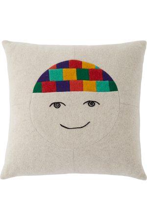 THE ELDER STATESMAN Off- Cashmere Face Pillow