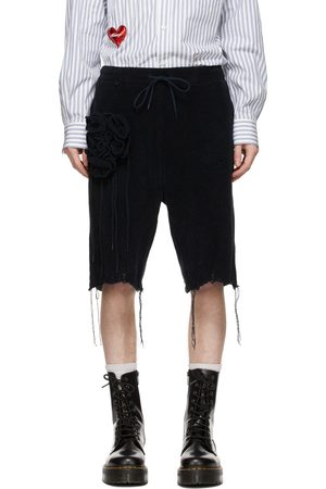 DOUBLET Navy Flower Corsage Shorts