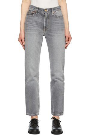 B SIDES Grey Arts Straight Jeans
