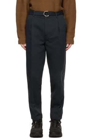 DOUBLET Navy Silk Chino Trousers