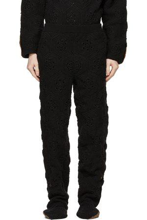 DOUBLET Hand-Crochet Bear Sweatpants