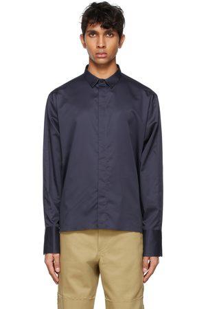 ADER error Men Shirts - Navy Croll Shirt