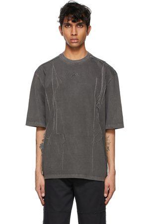 Ader Error Grey Needle Logo T-Shirt