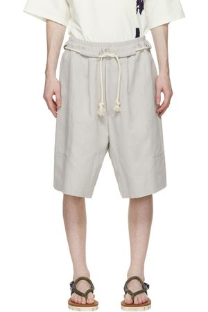 House Of The Very Islands SSENSE Exclusive Grey Linen Cruise Control Shorts
