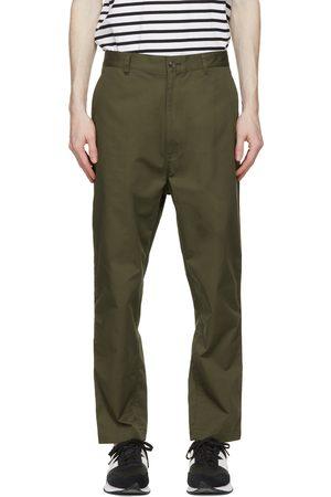 Comme des Garçons Khaki Cotton Chino Trousers