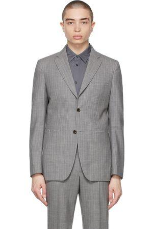 Comme des Garçons Grey Wool Stripe Blazer