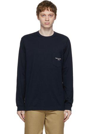 Comme des Garçons Navy Logo Pocket Long Sleeve T-Shirt