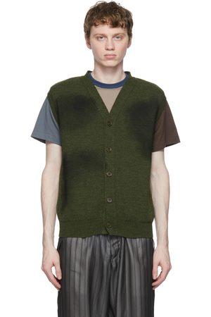 Comme des Garçons Khaki Lochaven of Scotland Edition Vest Cardigan