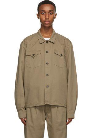 Double Rainbouu Men Shirts - Khaki Jungle Shirt