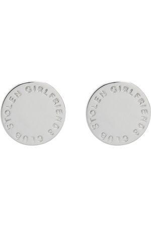 Stolen Girlfriends Club Men Earrings - Text Logo Stamp Earrings