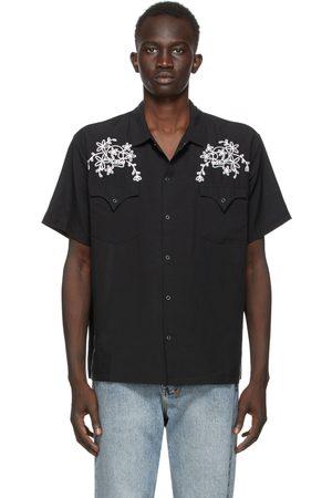 Double Rainbouu Loop Skull West Coast Short Sleeve Shirt