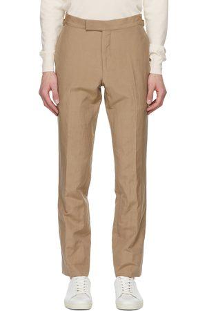 Tom Ford Tan Silk Shelton Trousers