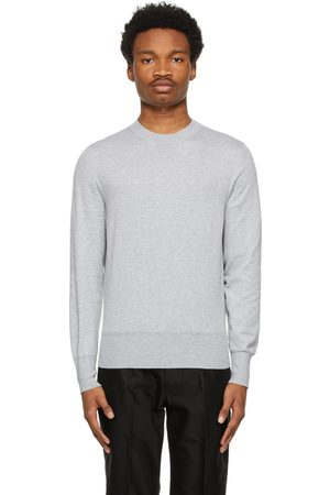 Tom Ford Men Sweaters - Grey Cotton Knit Sweater