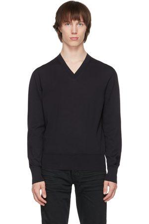 Tom Ford Navy V-Neck Sweater