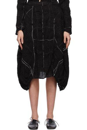 RENLI SU Asymmetric Smocking Skirt