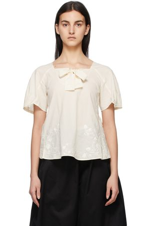 RENLI SU Off- Embroidered Bow T-Shirt