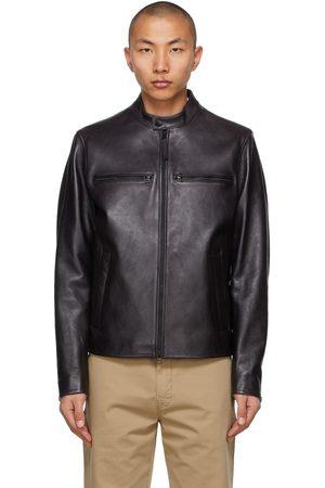 HUGO BOSS Men Leather Jackets - Leather Nadilo Jacket