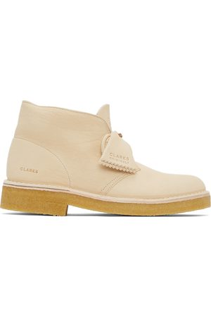 Clarks Men Lace-up Boots - Off- Leather 221 Desert Boots