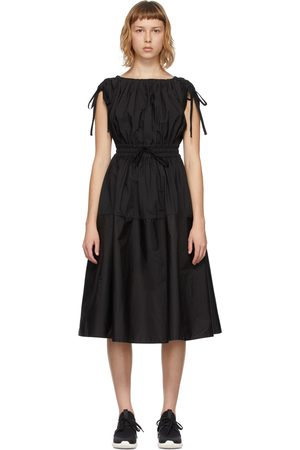 Moncler Women Midi Dresses - Poplin Drawstring Dress