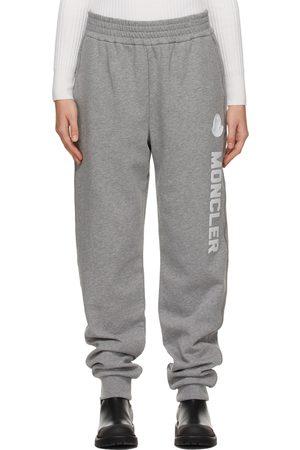 Moncler Women Sweats - Grey Logo Lounge Pants