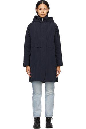 Moncler Women Coats - Navy Down Schedar Coat