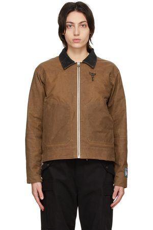 Reese Cooper Tan Waxed Cotton Biker Jacket