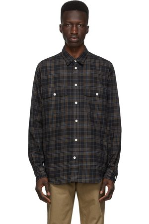 Norse projects Men Casual - Navy Flannel Check Villads Shirt