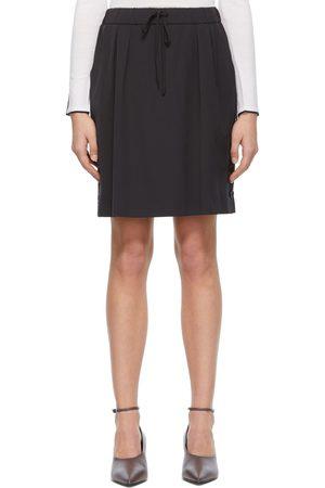Max Mara Navy Wool Gabardine Miniskirt