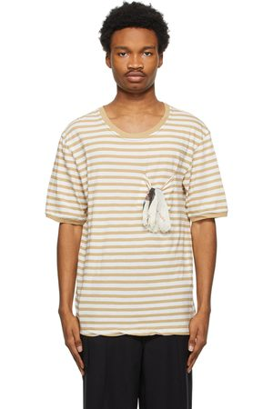 BED J.W. FORD Men T-shirts - And Off- Striped Pocket T-Shirt