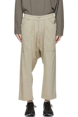 Rick Owens Taupe Cropped Long Drawstring Cargo Pants