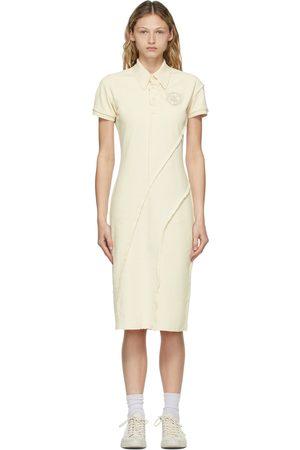 Acne Studios Off-White Piqué Polo Dress