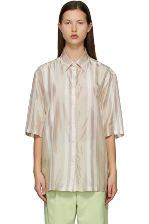 Acne Studios And Striped Short Sleeve Shirt