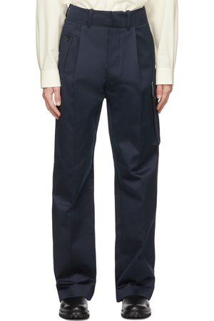 Uniforme Wide Leg Pleated Cargo Pants