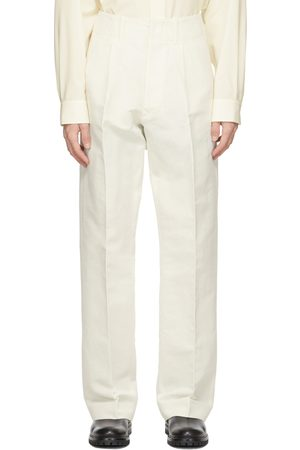 Uniforme Off-White Wide Leg Pleated Trousers