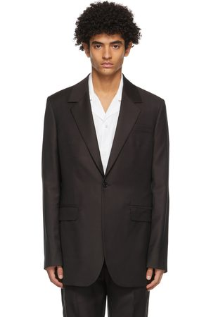 Acne Studios Men Blazers - Burgundy Wool Slim Suit Blazer