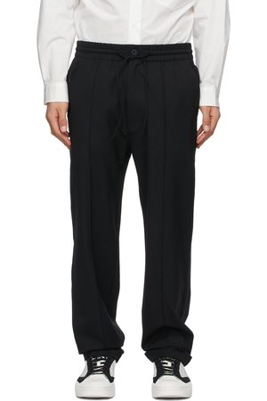 Y-3 Men Stretch Pants - Stretch Wool Trousers