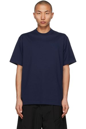 Y-3 Men T-shirts - Navy Logo T-Shirt