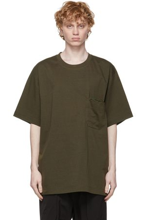 Y-3 Men T-shirts - Khaki Paper Jersey Pocket T-Shirt