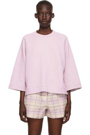 Ganni Purple Isoli Oversized Raglan Sweatshirt