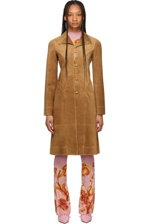 Charlotte Knowles Tan Suede Whip Jacket