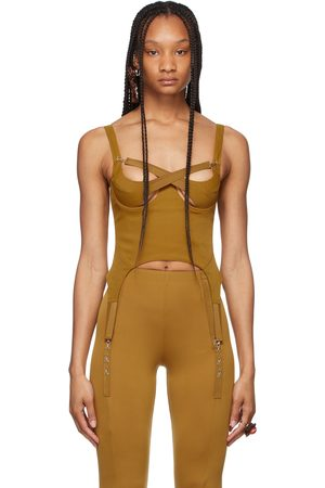 Charlotte Knowles SSENSE Exclusive Tan Tactical Bustier Tank Top