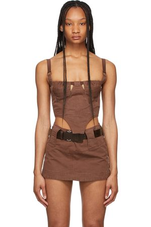 Charlotte Knowles Riveted Andara Bustier Tank Top