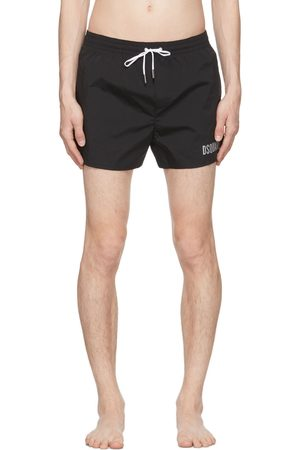 Dsquared2 Black & Silver 'Icon' Swim Shorts
