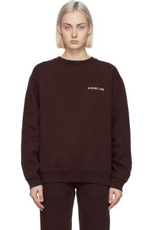 Helmut Lang Burgundy Logo Sweatshirt