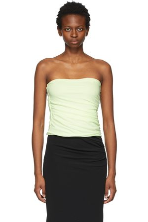 Helmut Lang Women Camisoles - Green Twist Tube Top