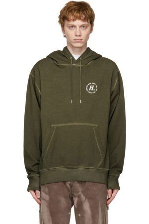 Helmut Lang Khaki Garment-Dyed Hoodie