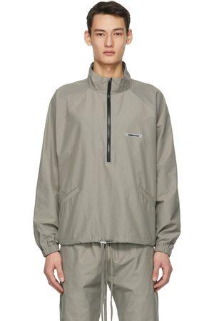 Essentials Khaki Half-Zip Track Jacket