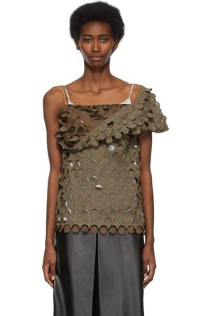Maison Margiela Women Blouses - Wool Cut-Outs Blouse