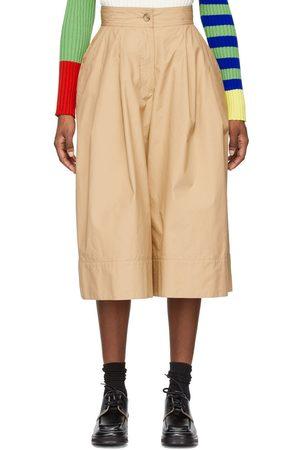 Moncler Genius 1 Moncler JW Anderson Khaki Military Double Pleat Shorts