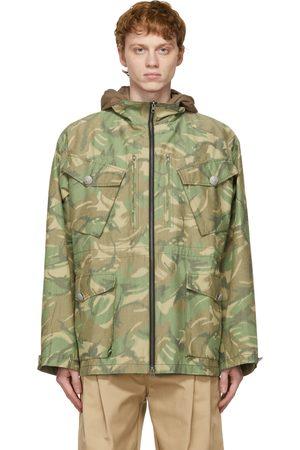SANKUANZ Reversible Khaki and Camo Hooded Jacket